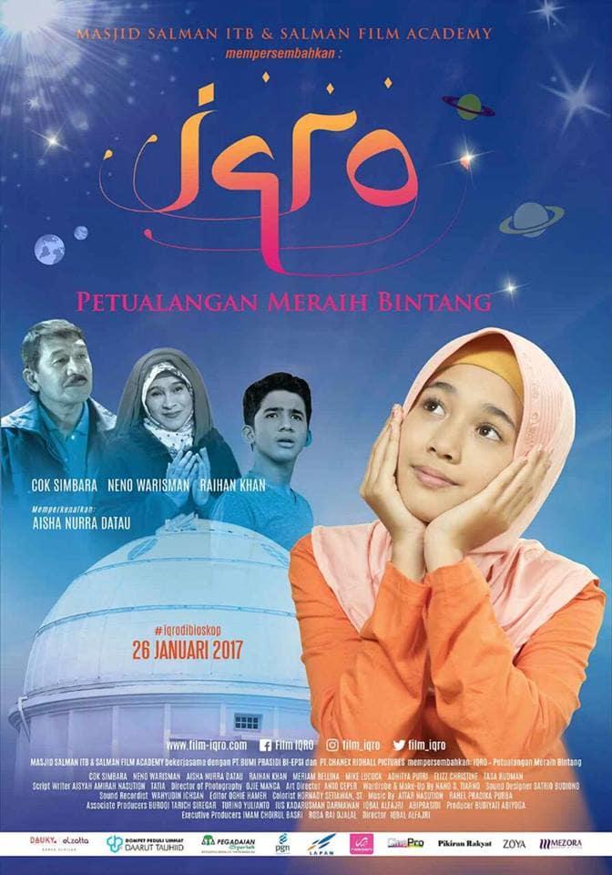 Poster Film Iqro Petualangan Meraih Bintang Aqila, Opa, Oma, Faudzi