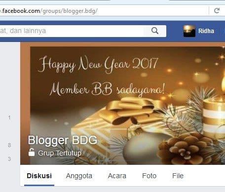 Grup Facebook Blogger BDG atau Bloger Bandung