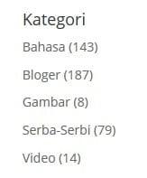 Kategori Tulisan Blog Tarjiem Per 5 Jan 2017