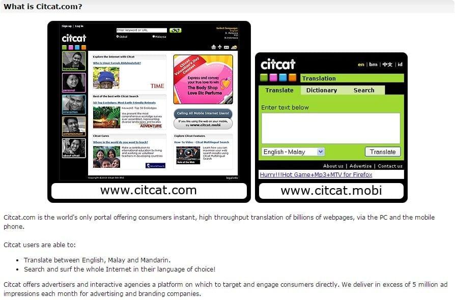 Terjemahan Indonesia Inggris Citcat