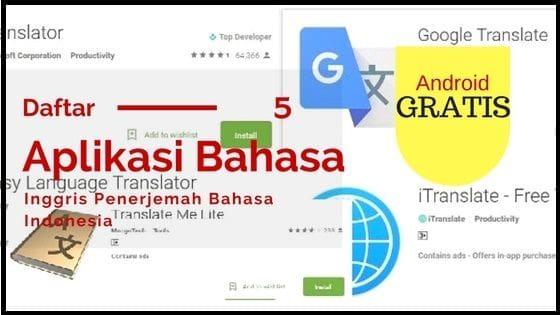 Aplikasi Bahasa Inggris Penerjemah Bahasa Indonesia Gratis - tarjiem.com