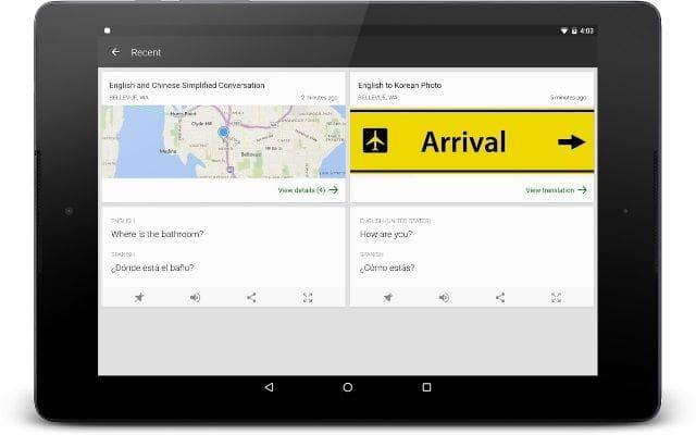 Aplikasi Terjemahan Bahasa Inggris Per Kalimat di Tablet - Translator