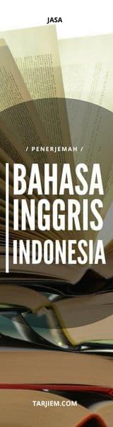 Jasa Penerjemah Inggris Indonesia - tarjiem.com