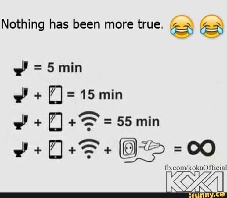 Jika Sedang Berada di Toilet/WC Dengan HP Sinyal Internet Gratis Colokan Kabel