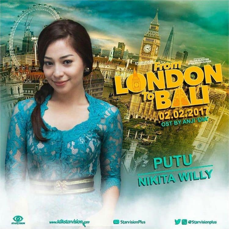 Nikita Willy dalam Film From London To Bali