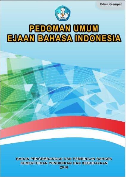 Sampul Buku Ebook Pedoman Umum Ejaan Bahasa Indonesia (PEUBI) Resmi Kemendikbud 2016