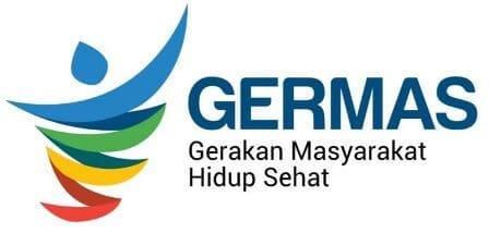 Logo Resmi Germas - Gerakan Masyarakat Hidup Sehat dari Kementerian Kesehatan Republik Indonesia (Kemenkes RI) Putih