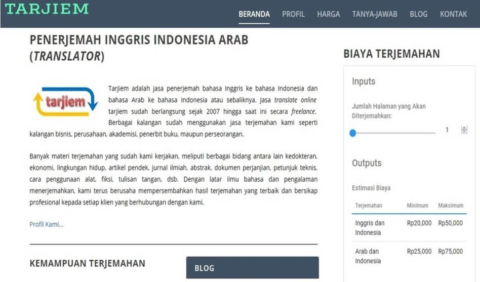 Tarjiem Agustus 2017: Jasa Penerjemah Inggris Indonesia Arab