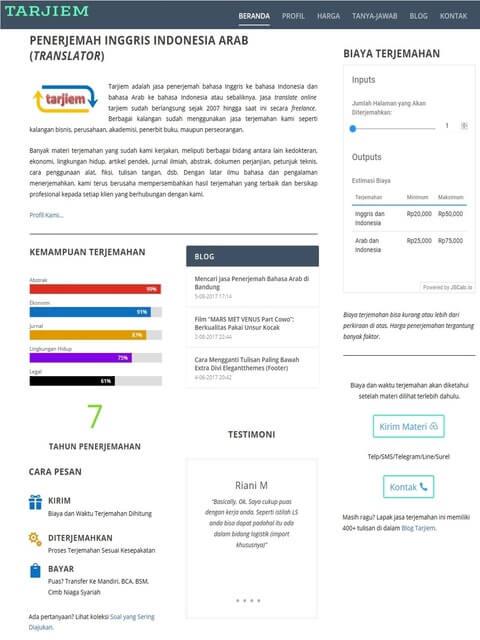 Beranda/Homepage Tarjiem Agustus 2017 - Penerjemah Inggris Indonesia Arab