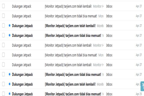 Saat Menggunakan JNhost, Up-Down Laporan dari Plugin Monitor Jetpack