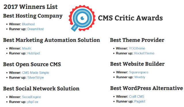 Daftar CMS Terbaik dan Gratis 2017 cmscritic.com