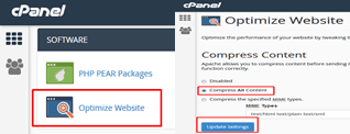 Cara Optimasi WordPress cPanel Compress Content Gzip Compression