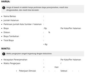 Contoh Surat Penawaran/Proposal Jasa Penerjemah Inggris Indonesia Arab Sederhana Tarjiem