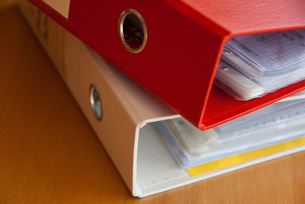 Dokumen Kertas Files Binder Arsip Kerja Putih Merah Kantor