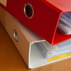 Dokumen Kertas Files Binder Arsip Kerja Putih Merah Kantor 300
