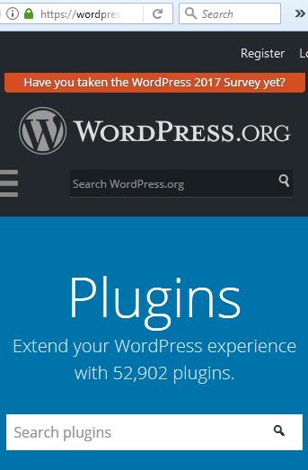 Jumlah atau Total Plugin Resmi WordPress.org Nov 2017