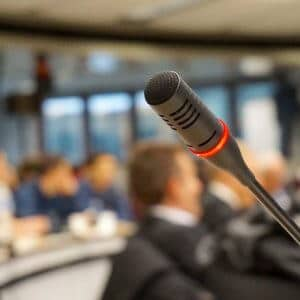 Mikrofon Mic Interpreter Juru Bahasa Orang Rapat Merah Hitam Microphone Suara 300