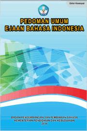 Pedoman Umum Ejaan Bahasa Indonesua PEUBI Resmi KEMENDIKNAS Sampul Buku