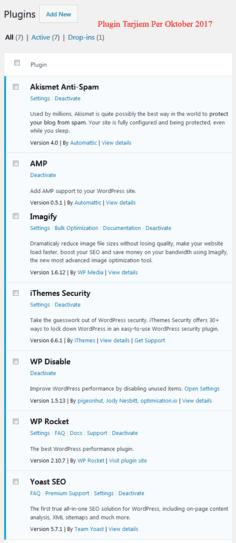 7 Plugin WordPress Tarjiem Oktober 2017