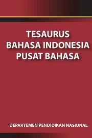 Tesaurus Bahasa Indonesia Pusat Bahasa Logo Tulisan Merah Sampul Buku