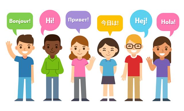 Terjemahan Bahasa Dunia Halo Hola Orang Laki Cewek Cowok Senyum Translate Penerjemah Translator