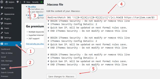 Cara Ganti Permalink-URL WordPress .htaccess Bantuan Plugin Seo Yoast