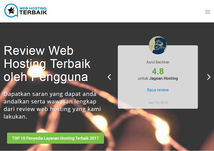Beranda Depan WebHostingTerbaik.id