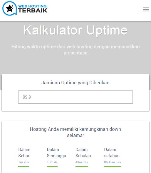 Kalkulator Situs Aktif/Uptime
