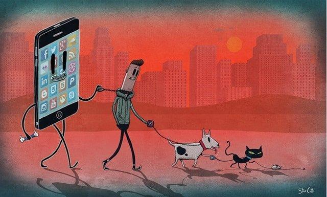 Orang Pegang Dan Mengikuti Anjing, Kucing, Tikus Dirantai dan Diikat HP,Ponsel Smartphone-stevecutts.com