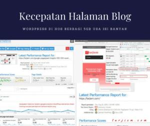 Sampul Kecepatan Halaman Blog WordPress di Hos Berbagi 5GB USA Isi Banyak Jasa Penerjemah Bahasa tarjiem
