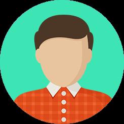 cowok ikon icon orang tim team wajah muka muka kerah baju merah