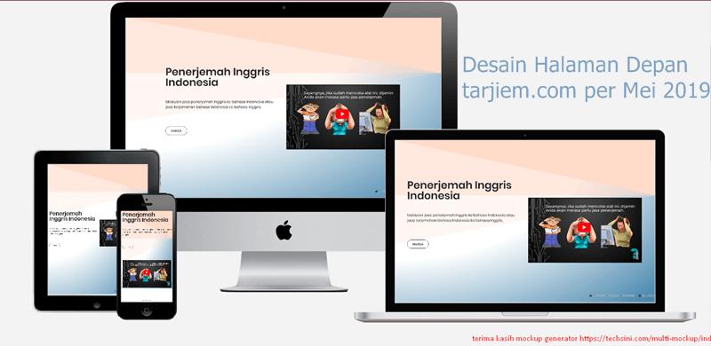 Desain Halaman Depan tarjiem Beranda Homepage Penerjemah Inggris Indonesia mei 2019 800 px