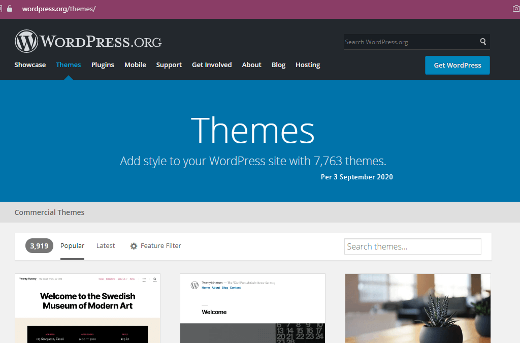 Tema WordPress.org Repositori 7.763 per 3 September 2020-themes wp
